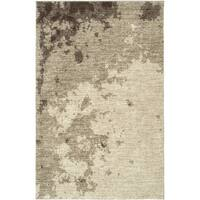 LR Home Rock Beige Abstract Area Rug ( 5'3 x 7'5 ) - 5'3 x 7'5