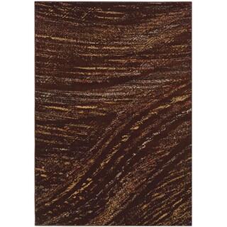 LNR Home Adana Brown Abstract Area Rug (7'9 x 9'9)