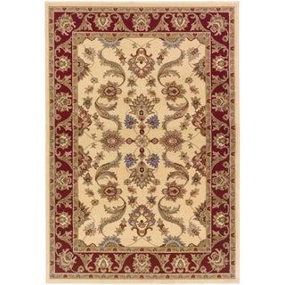 LNR Home Adana Cream/ Red Oriental Rug (1'10 x 3'1)