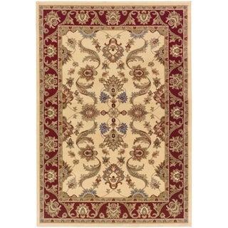 LNR Home Adana Cream/ Red Oriental Rug (1'10 x 3'1) - 2'2 x 3'3