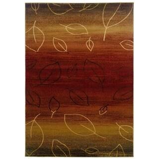 LNR Home Adana Cherry/Light Brown Abstract Accent Rug (1'10 x 3'1) - 2'2 x 3'3
