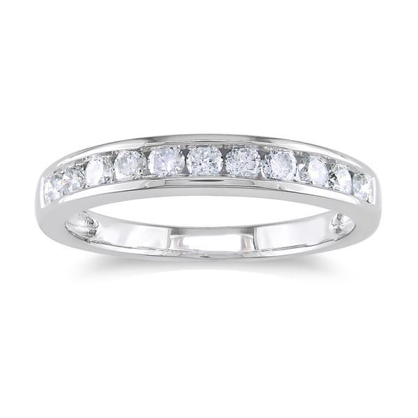 Miadora 14k Gold 1/2ct TDW Diamond Channel Anniversary Stackable Wedding Band Ring (G-H, I1-I2)