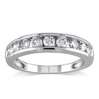 Miadora 14k Gold 3/4ct TDW Certified Diamond Wedding Band