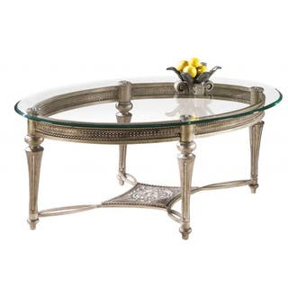 Galloway Oval Cocktail Table w  Glass Top. Oval Coffee  Console  Sofa   End Tables For Less   Overstock com