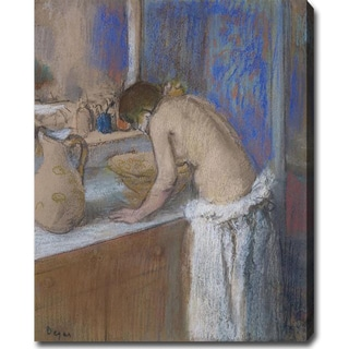 Edgar Degas 'Young Woman by the Toilette' Oil Canvas Art