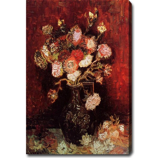 Vincent Van Gogh 'Vase with Asters and Phlox' Oil Canvas Art