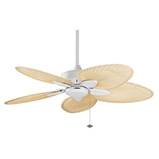 Fanimation Windpointe 44-inch Matte White Palm Blades Ceiling Fan