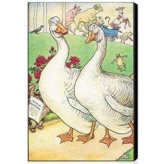 Oliver Gal 'Gander and Goose' Canvas Art