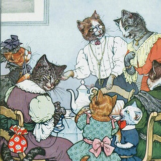Oliver Gal 'The Cat Family' Canvas Art