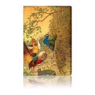 Oliver Gal 'The Peacock' Canvas Art