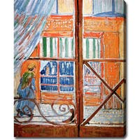 Vincent van Gogh 'A Pork-Butcher's Shop Seen from a Window' Oil Canvas Art