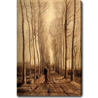 Vincent Van Gogh 'Avenue of Poplars' Oil on Canvas Art