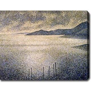 Theo Van Rysselberghe 'Channel Coast' Oil Canvas Art