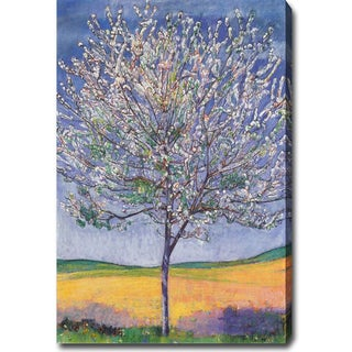 Ferdinand Hodler 'Cherry Tree in Bloom' Oil on Canvas Art