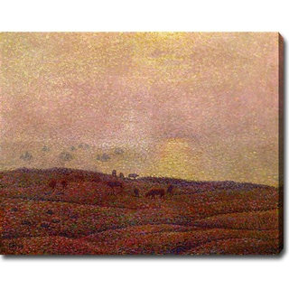 Theo Van Rysselberghe 'Cows in a Landscape' Oil on Canvas Art