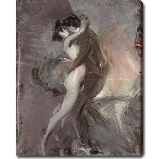 Giovanni Boldini 'The Couple' Oil on Canvas Art