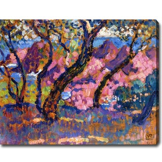 Theo Van Rysselberghe 'In the Shade of the Pines' Oil on Canvas Art