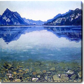 Ferdinand Hodler 'Lake Thun Landscape' Oil on Canvas Art