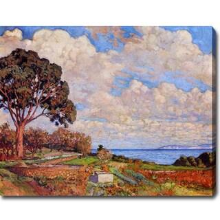 Theo Van Rysselberghe 'Large Tree near the Sea' Oil on Canvas Art