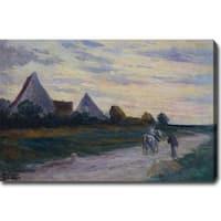 'The Road Scene' Oil on Canvas Art - Multi