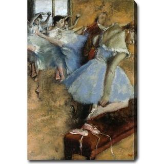 Edgar Degas 'Ballet Class' Oil on Canvas Art