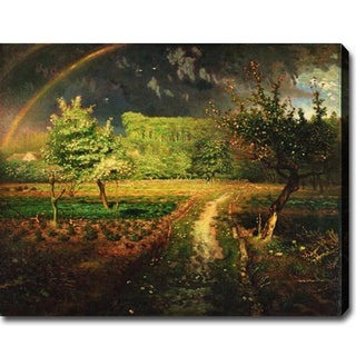 Jean-Francois Millet 'Spring' Oil on Canvas Art