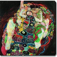 Gustav Klimt 'The Virgin' Oil on Canvas Art - Multi