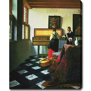 Johannes Vermeer 'The Music Lesson' Oil on Canvas Art