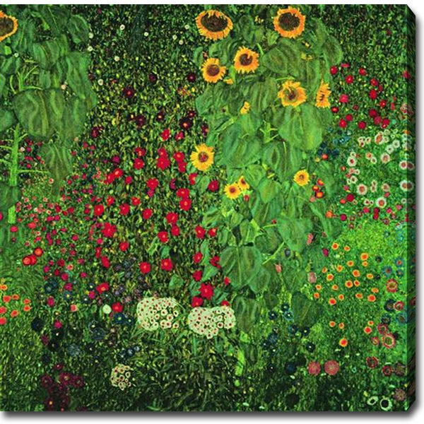 Gustav Klimt Garden With Sunflowers Oil On Canvas Art Multi Free Shipping Today 8033472