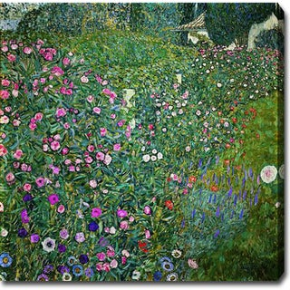 Gustav Klimt 'Italian Garden Landscape' Oil on Canvas Art