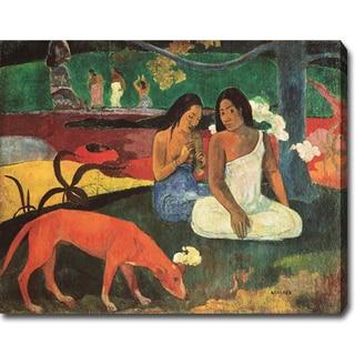 Paul Gauguin 'Arearea' Oil on Canvas Art