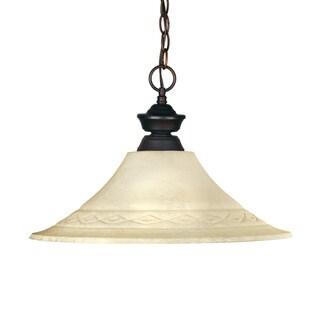 Riviera Olde Bronze 1-Light Hanging Pendant Fixture