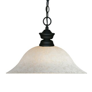 Traditional Matte Black 1-Light Pendant Fixture