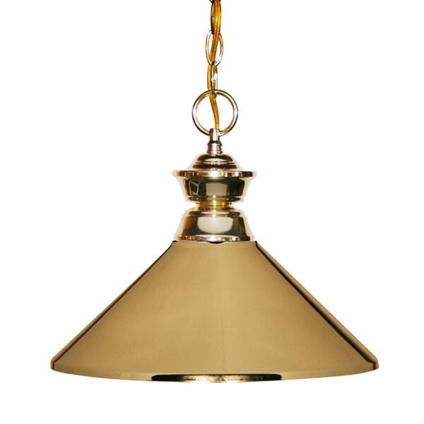 Shop Polished Brass 1-Light Pendant Fixture