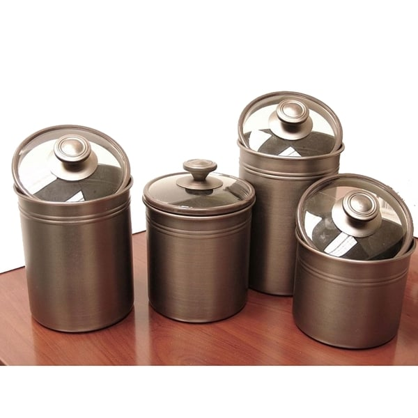 kamenstein brushed bronze 4 piece kitchen canister set