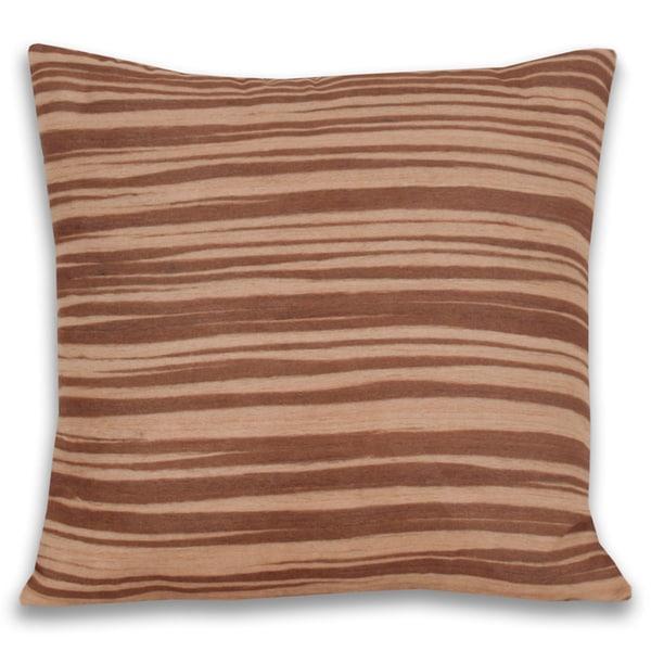 Natural Zebra Print Decorative Throw Pillow (18 x 18)