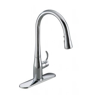 Kohler K-597 Simplice Single-Hole Or Three-Hole Kitchen Sink Faucet With Pull-Down Spout And Docknetik Magnetic Docking System