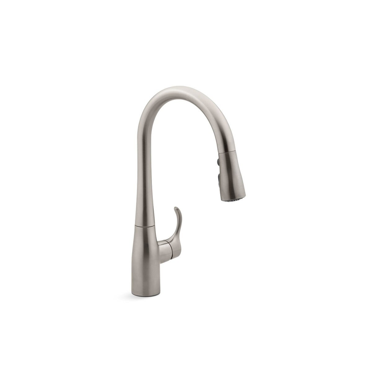 Kohler Simplice Pullout Spray Single Hole Kitchen Faucet K-597-VS Vibrant  Stainless