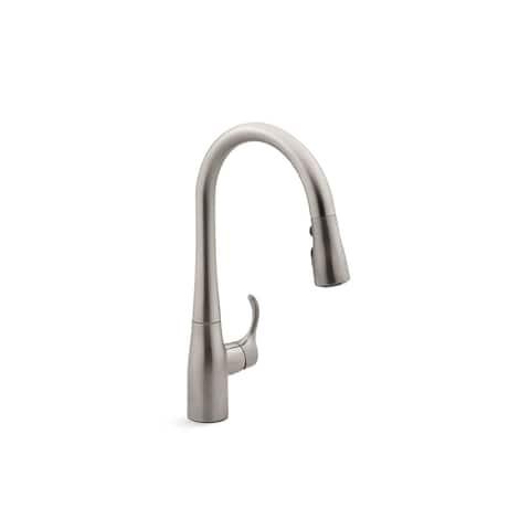 Kohler Simplice Pullout Spray Single Hole Kitchen Faucet K-597-VS Vibrant Stainless