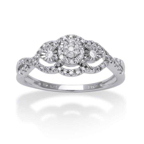 Isabella Collection 10k White Gold 3/4ct TDW Diamond Swirl Ring (G-H, I2-I3)