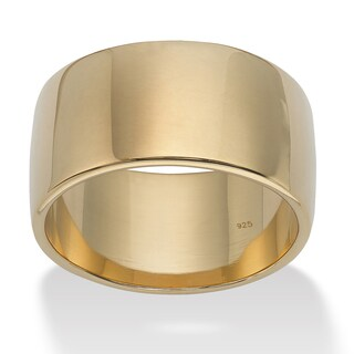 18k Gold Over .925 Sterling Silver Wedding Band