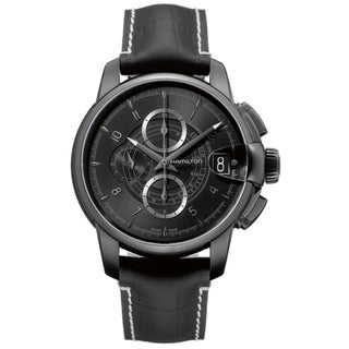 Hamilton Men's 'Railroad Auto Chrono' Black Chronograph Watch