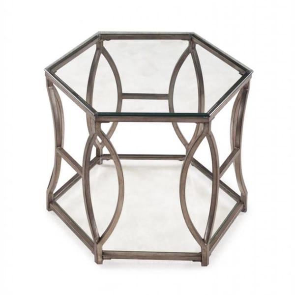 Shop Nevelson Contemporary Glam Antique Gold Hexagonal