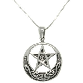 Carolina Glamour Collection Sterling Silver Celtic Star Necklace