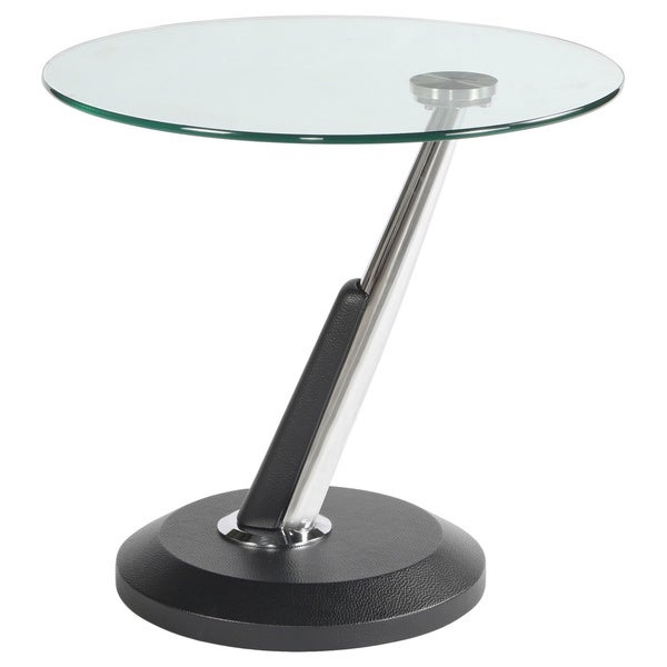 Modesto Metal And Glass Round End Table Free Shipping Today Overstock Com 15394145