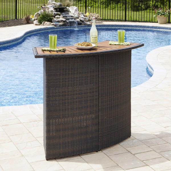 Home Styles Riviera Outdoor Woven Bar