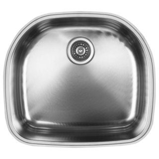 Ukinox D537.10 Single Basin Stainless Steel Undermount Kitchen Sink