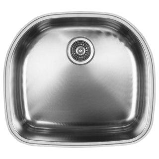 Ukinox D537.10 Single Basin Stainless Steel Undermount Kitchen Sink (5 options available)
