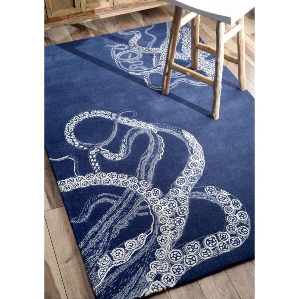 Nuloom Handmade Octopus Tail Faux Silk Wool Rug 5 X 8