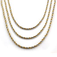 Goldplated Stainless Steel Twist Rope Chain Necklace